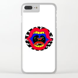 Scream for Help. Clear iPhone Case