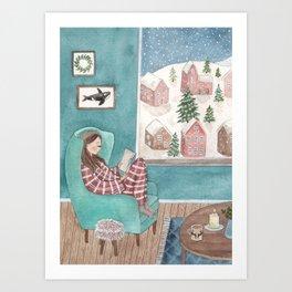 Cozy winter Art Print