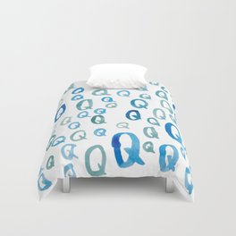 Painted Q Duvet Cover