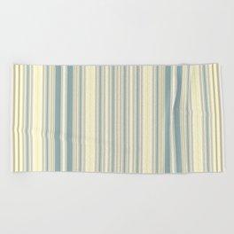 Seafoam Green Yellow Stripes Beach Towel