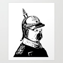 The Emperor Pug Art Print