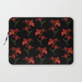 Red Lily Flowers Laptop Sleeve