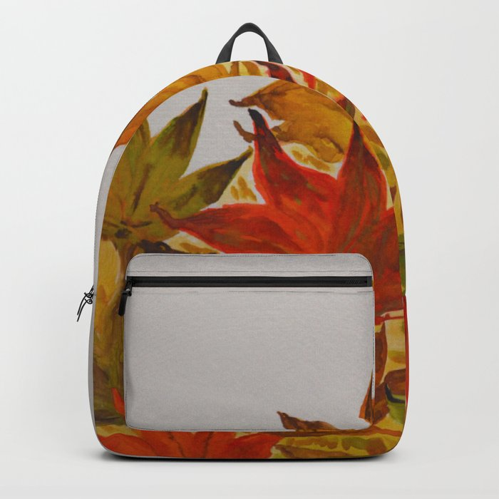 Autumn abstract watercolor 03 Backpack