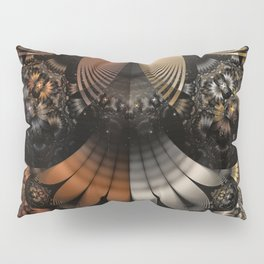 Autumn Fractal Pheasant Feathers in DaVinci Style Pillow Sham