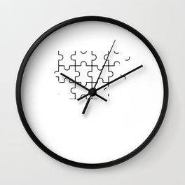 puzzle coffee Wall Clock