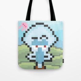 Squidward Pixels Tote Bag