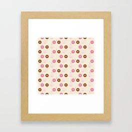Cute Little Donuts on Cream Framed Art Print