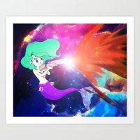 Mermaid fire power Art Print