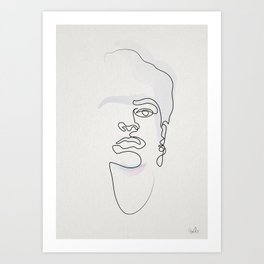 Half-a-Frida: One line Art Print