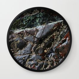 Ocean Weathered Natural Rock Texture with Barnacles Wall Clock