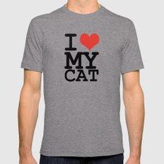 I love my cat Mens Fitted Tee Tri-Grey MEDIUM