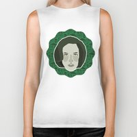 scully Biker Tanks featuring Dana Scully by Kuki
