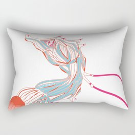Robot Seahorse Rectangular Pillow