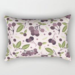 Realistic aronia berry illustration Seamless repeating pattern Rectangular Pillow