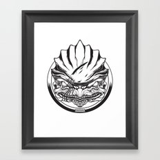 Mass Effect. Urdnot Wrex Framed Art Print