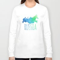 russia Long Sleeve T-shirts featuring Russia by Stephanie Wittenburg