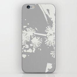 Starflowers on gray iPhone Skin