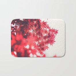 Red Japanese Maple Bath Mat