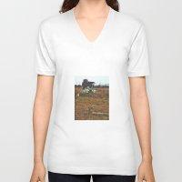 safari V-neck T-shirts featuring Safari Tour by calvin./CHANCE