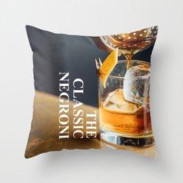 The Classic Negroni Throw Pillow