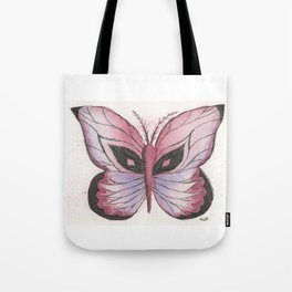 Ink and Watercolor Butterfly in rose colored tones Tote Bag