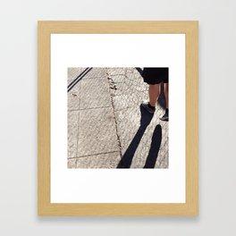 Shoes & Shadows Framed Art Print