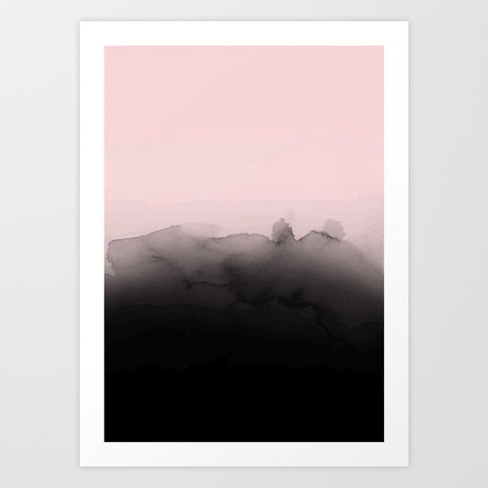 Pink is the new black Art Print