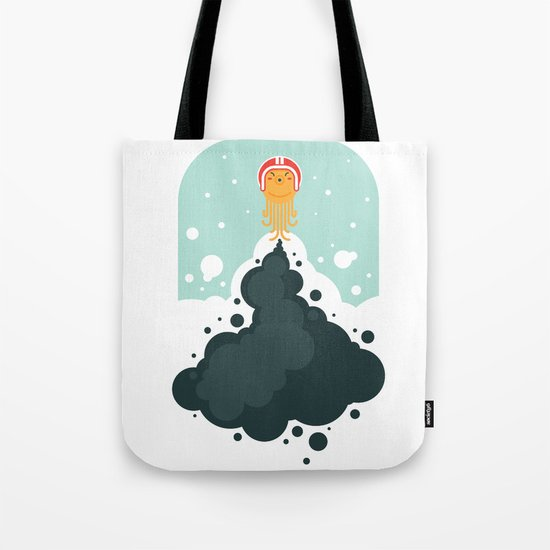 Rocket Octopus Tote Bag