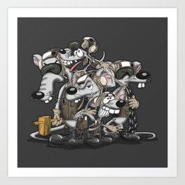Line Rats Art Print