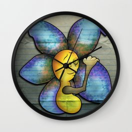 """Oh, Hey. It's You!"" Flowerkid Wall Clock"