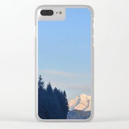 MOON OVER MT. HOOD OREGON Clear iPhone Case