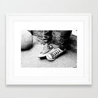 converse Framed Art Prints featuring converse by Annretro