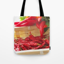 Hot chili pepper for kitchen design Tote Bag