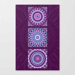 Mandala Collage violett Canvas Print
