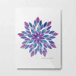 Leaf Mandala - Jewel Tones Metal Print