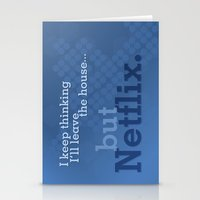 netflix Stationery Cards featuring But Netflix by Matthew Hall