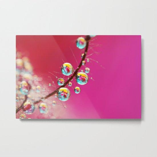 Smoking Pink Drops Metal Print