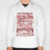 liverpool Hoodies featuring Liverpool by leeann walker illustration