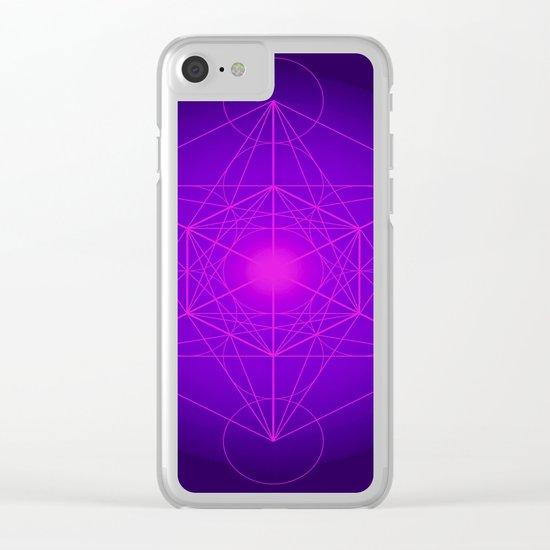 Metatron   Cube   Secret Geometry   Platonic   Matrix   Protects children Clear iPhone Case