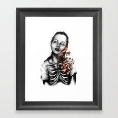 Heartbeats // Illustration Framed Art Print