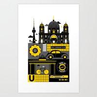berlin Art Prints featuring Berlin by koivo