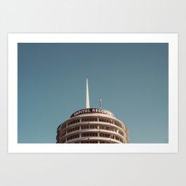 Capitol Records Rooftop 2017 Art Print