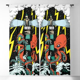 Octopus storm Blackout Curtain