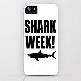 Shark week (on white) iPhone Case