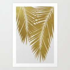 Palm Leaf Gold II Art Print