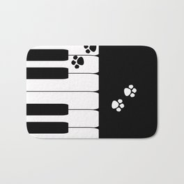 The keys of the piano . Creative black and white pattern . Bath Mat