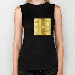 Abstract background with gold bars Biker Tank