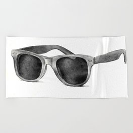 B&W Raybans - Drawing Beach Towel