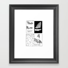 Bats In Your Hair Framed Art Print