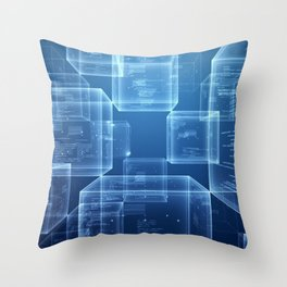 The Blockchain Throw Pillow